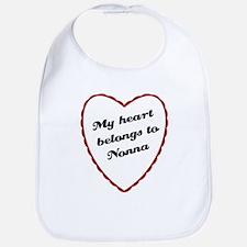 My Heart Belongs to Nonna Bib
