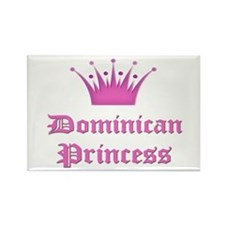 Dominican Princess Rectangle Magnet