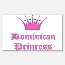 Dominican Princess Rectangle Decal