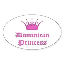 Dominican Princess Oval Decal