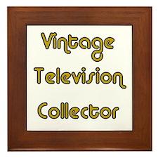 Vintage Television Collector Framed Tile