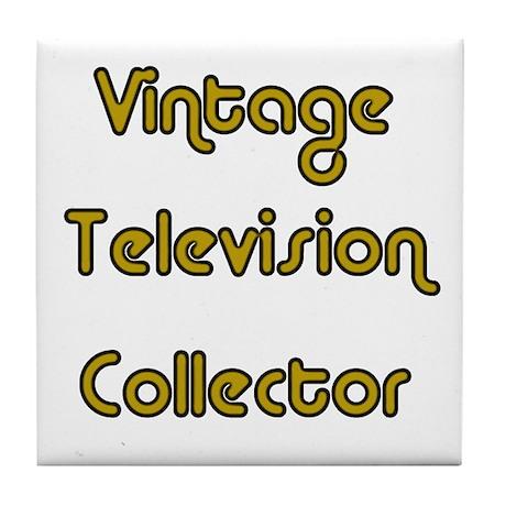 Vintage Television Collector Tile Coaster