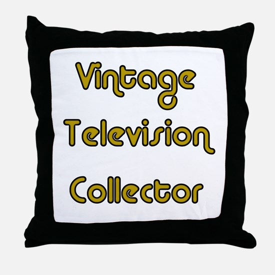 Vintage Television Collector Throw Pillow