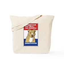 Cute Pit bull political Tote Bag