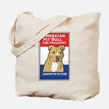 Funny Pit bull political Tote Bag