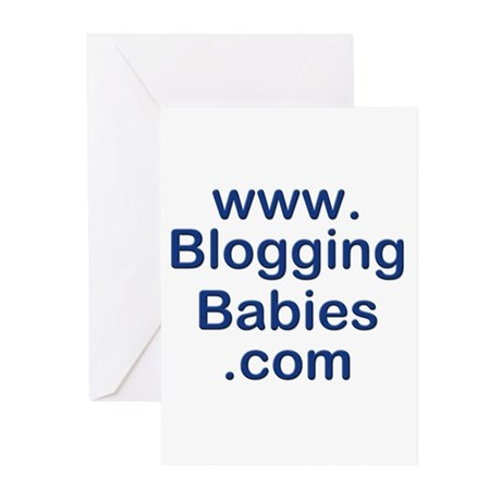 Blogging Babies Greeting Cards (Pk of 10)