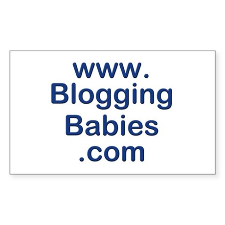 Blogging Babies Rectangle Sticker