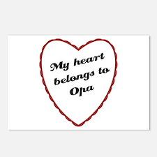 My Heart Belongs to Opa Postcards (Package of 8)