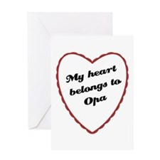 My Heart Belongs to Opa Greeting Card