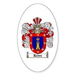 Reyes Coat of Arms Oval Sticker