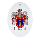 Reyes Coat of Arms Oval Ornament