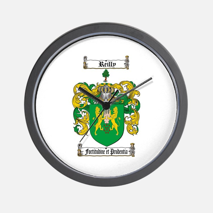 Reilly Coat of Arms Wall Clock