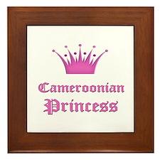 Cameroonian Princess Framed Tile