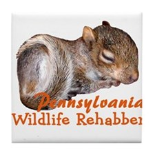 Pennsylvania Wildlife Rehabbers Tile Coaster