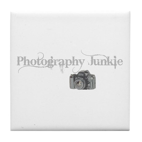 photo junkie Tile Coaster