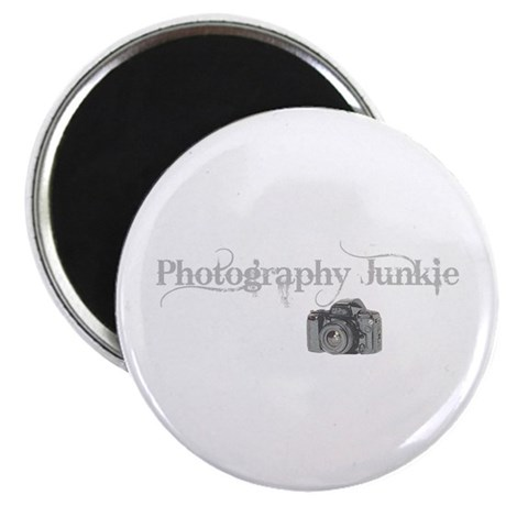 "photo junkie 2.25"" Magnet (100 pack)"