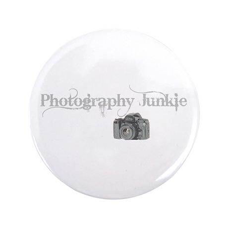 """photo junkie 3.5"""" Button"""