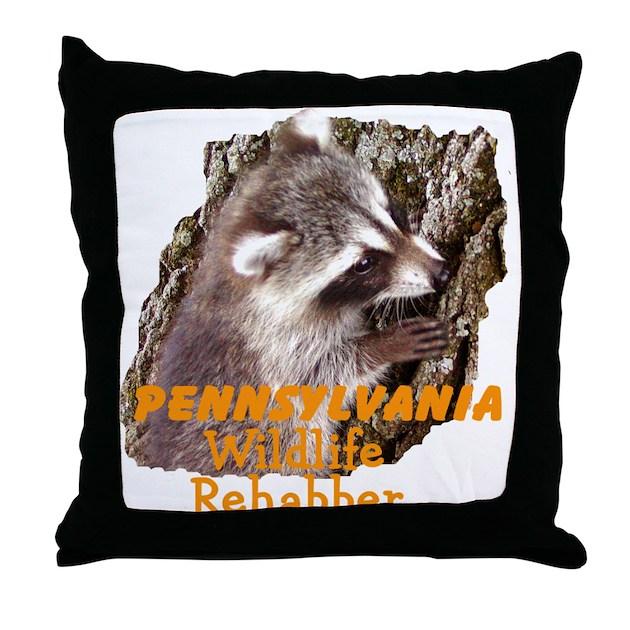 Throw Pillows With Wildlife : Pennsylvania Wildlife Throw Pillow by kayzsqrlz