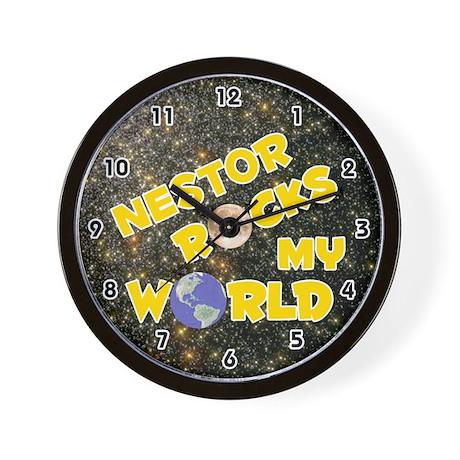 Nestor Rocks My World (Gold) Wall Clock