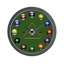 Billard Balls Wall Clock