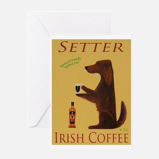 Setter Irish Coffee Greeting Card