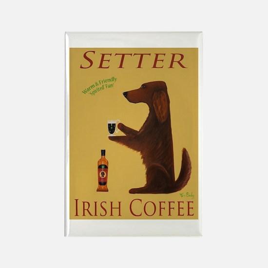 Setter Irish Coffee Rectangle Magnet