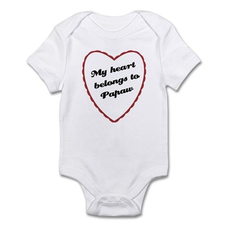 My Heart Belongs to Papaw Infant Bodysuit
