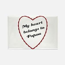 My Heart Belongs to Papou Rectangle Magnet