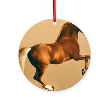 Palomino stallion, horse art. Ornament (Round)