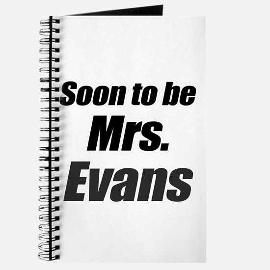 Soon to be Mrs. Evans Journal