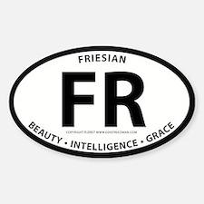 "Friesian ""FR"" Oval Decal"