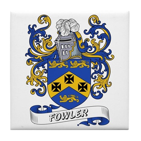 Fowler Coat of Arms Tile Coaster