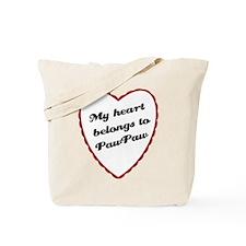 My Heart Belongs to PawPaw Tote Bag