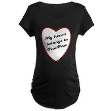 My Heart Belongs to PawPaw T-Shirt