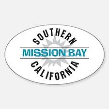 Mission Bay California Sticker (Oval)