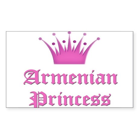 Armenian Princess Rectangle Sticker