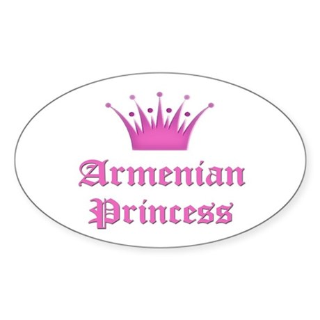 Armenian Princess Oval Sticker