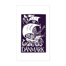 Danmark Rectangle Decal