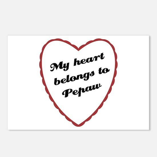 My Heart Belongs to Pepaw Postcards (Package of 8)
