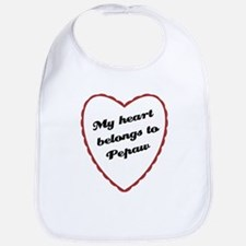 My Heart Belongs to Pepaw Bib