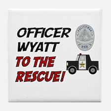 Wyatt to the Rescue!  Tile Coaster