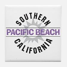 Pacific Beach California Tile Coaster