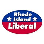 Rhode Island Liberal Car Sticker