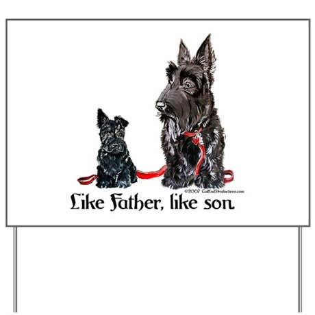 Scottish Terrier Family Dogs Yard Sign