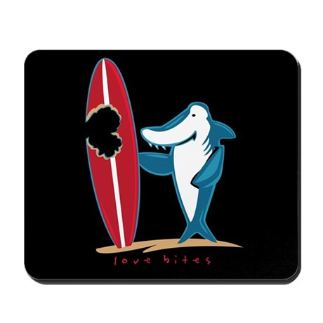 Love Bites Surfing Valentine Mousepad