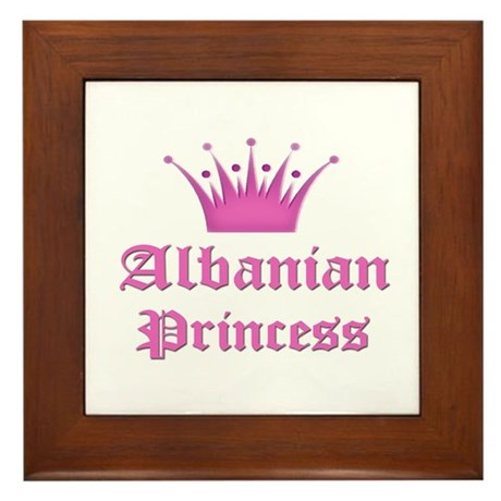 Albanian Princess Framed Tile