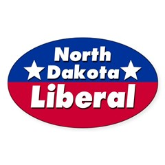 North Dakota Liberal Car Decal