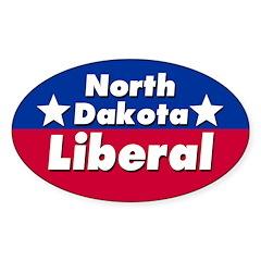 North Dakota Liberal Car Decal