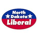 North Dakota Liberal Car Sticker