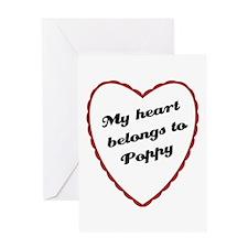 My Heart Belongs to Poppy Greeting Card